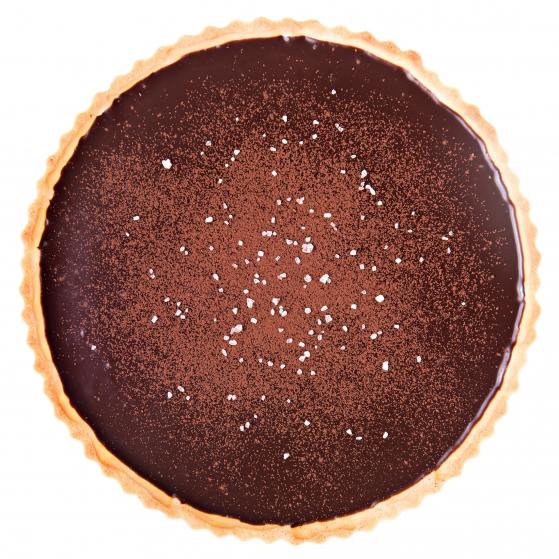 Tart so slaným karamelom a čokoládou