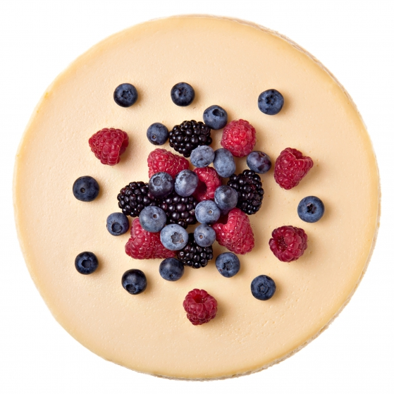 Vanilkový cheesecake so škoricovou čipkou