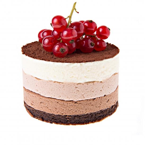 Mousse z trojakej čokolády